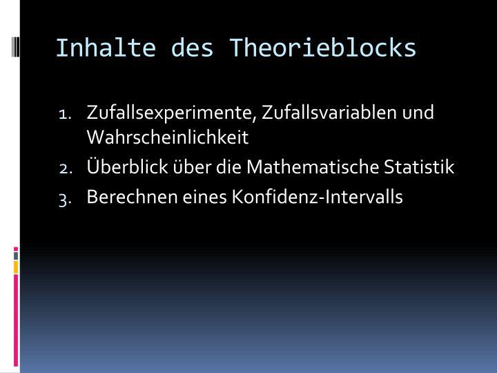 Inhalte des Theorieblocks