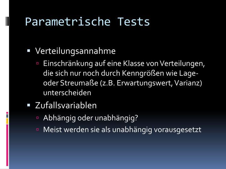 Parametrische Tests