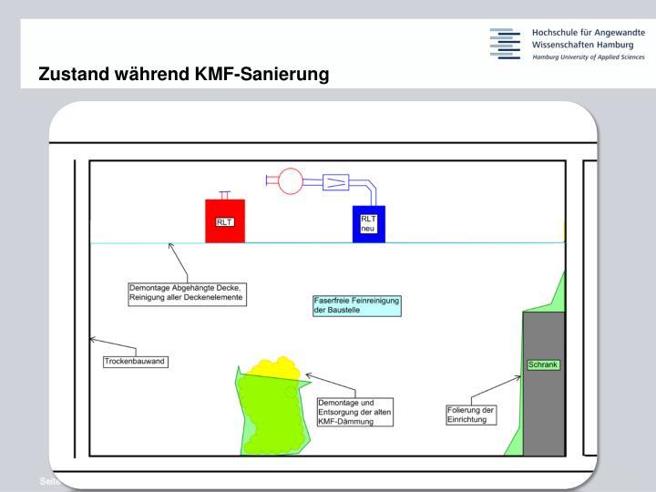 Zustand während KMF-Sanierung