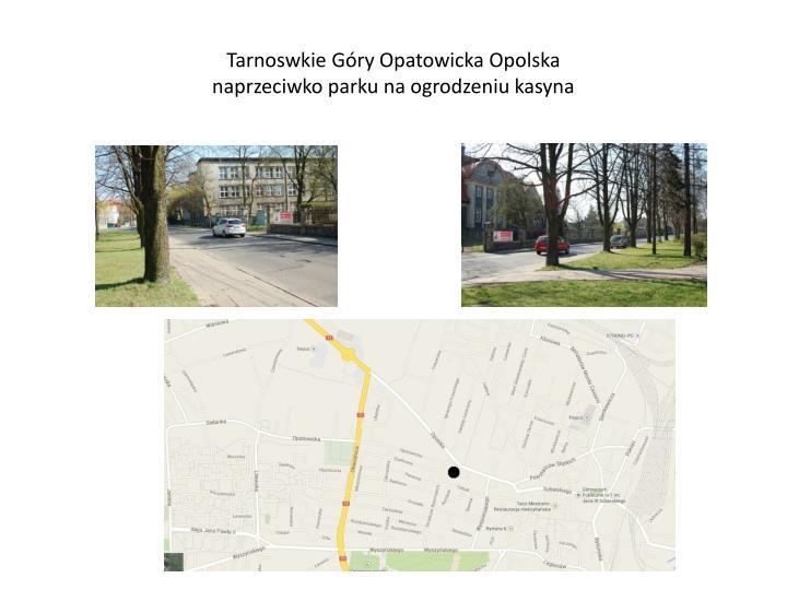 Tarnoswkie Góry Opatowicka Opolska