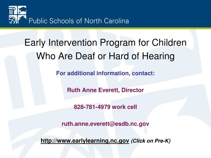 Early Intervention Program for Children