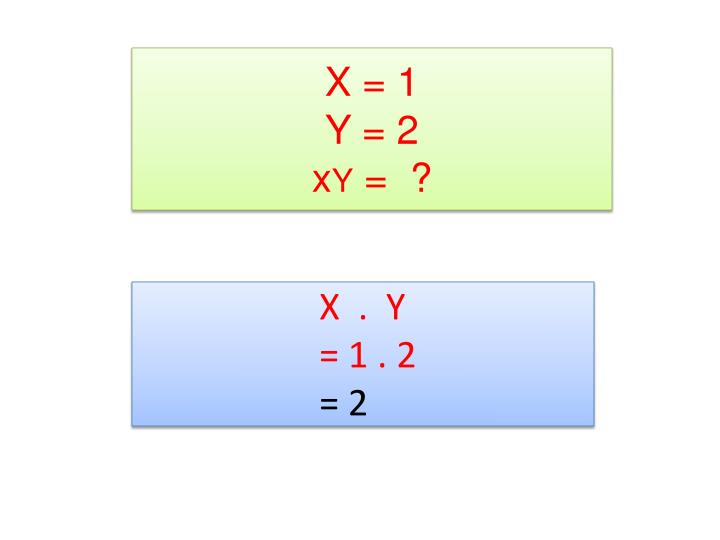 X = 1