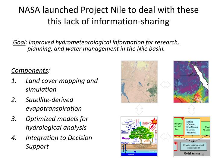 NASA launched Project Nile to deal with these this lack of information-sharing