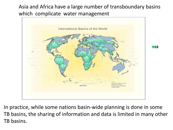 Asia and Africa have a large number of