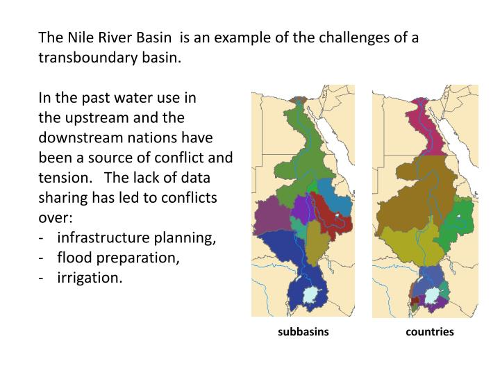 The Nile River Basin  is an