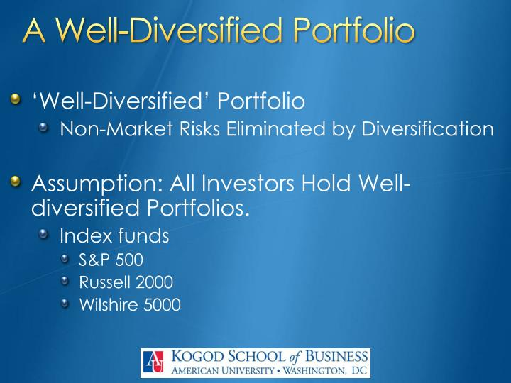 A Well-Diversified Portfolio