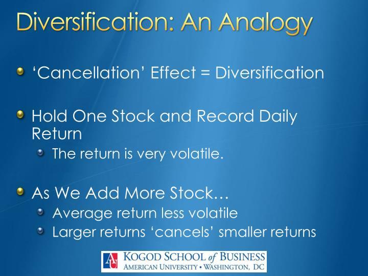 Diversification: An Analogy