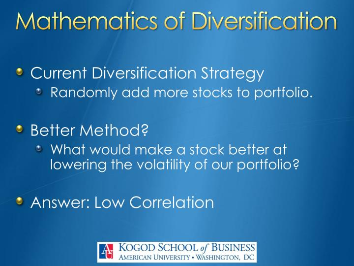 Mathematics of Diversification