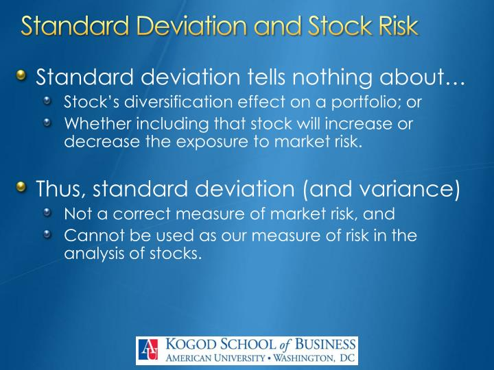 Standard Deviation and Stock Risk