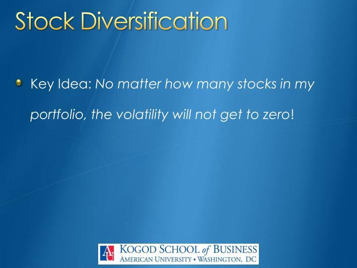 Stock Diversification