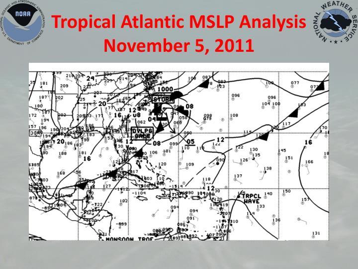Tropical Atlantic MSLP Analysis