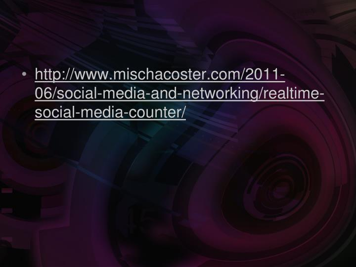 http://www.mischacoster.com/2011-06/social-media-and-networking/realtime-social-media-counter/