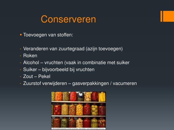 Conserveren