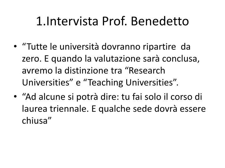 1.Intervista Prof. Benedetto