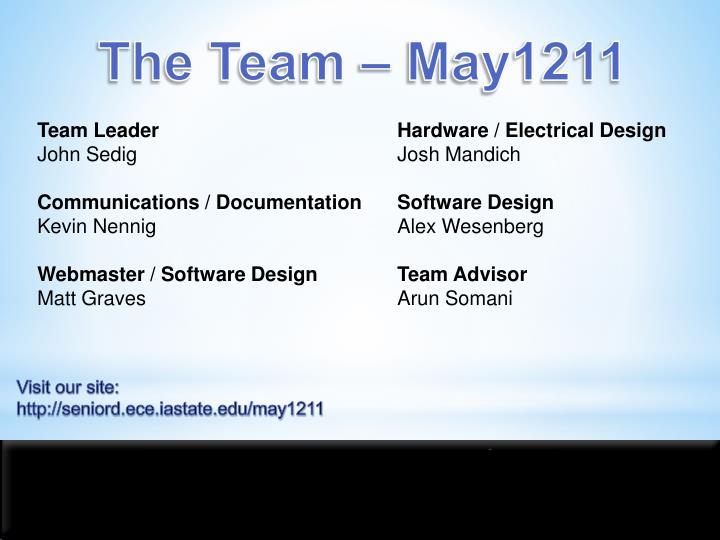 The Team – May1211