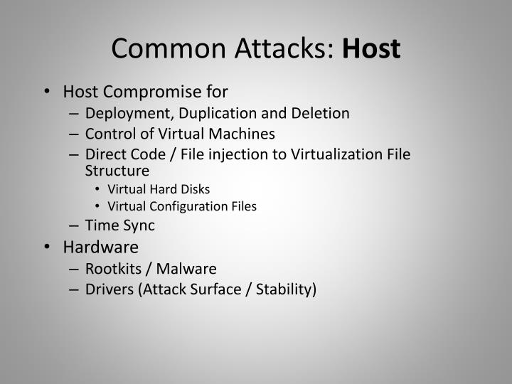 Common Attacks: