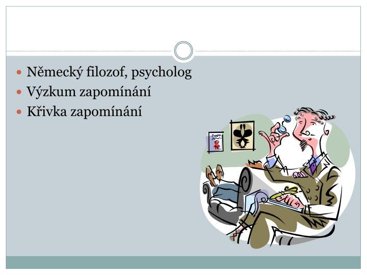 Německý filozof, psycholog