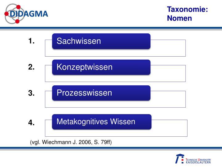 Taxonomie: