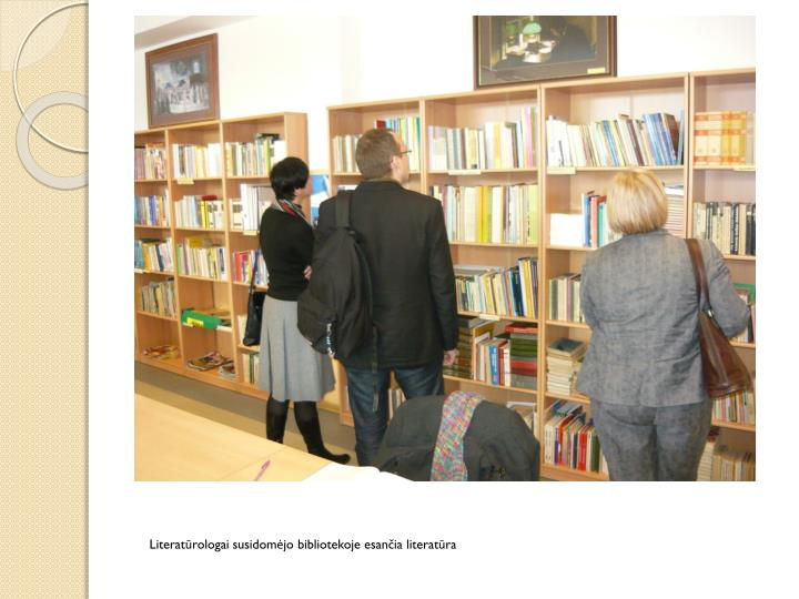 Literatūrologai susidomėjo bibliotekoje esančia literatūra