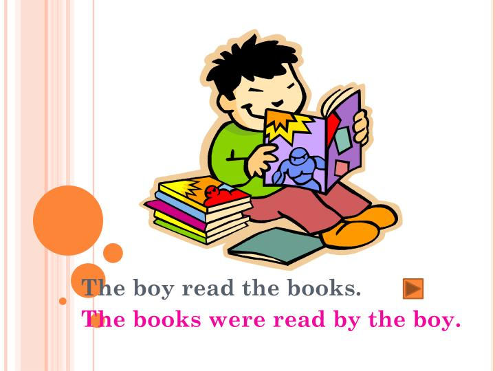 The boy read the books.