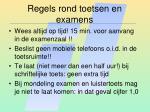 regels rond toetsen en examens