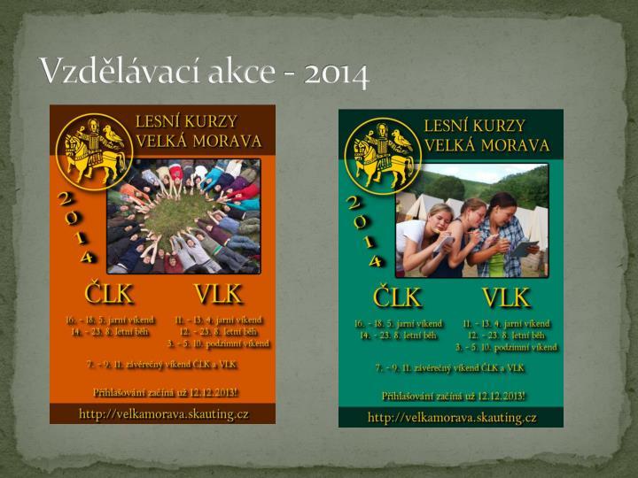 Vzdělávací akce - 2014