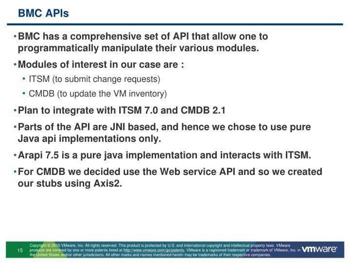 BMC APIs
