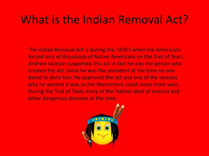 What is the indian removal act