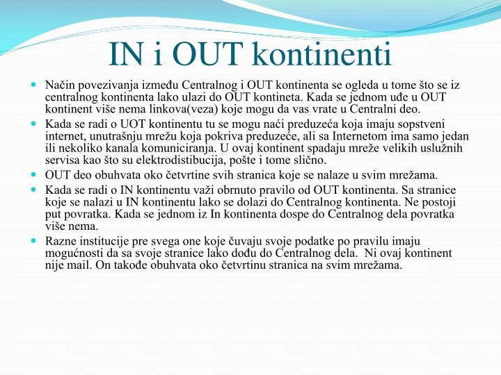 In i out kontinenti