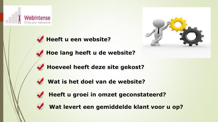 Heeft u een website?