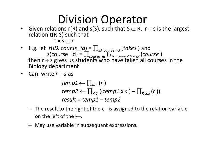 Division Operator