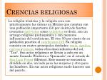 crencias religiosas