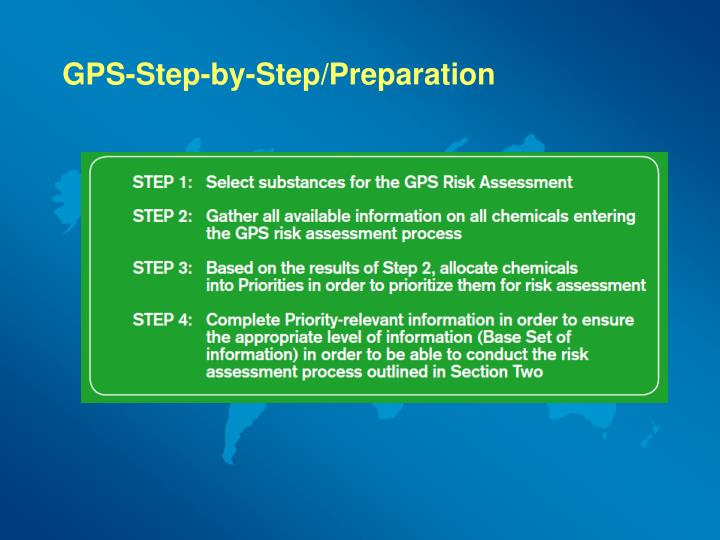 GPS-Step-by-Step/Preparation