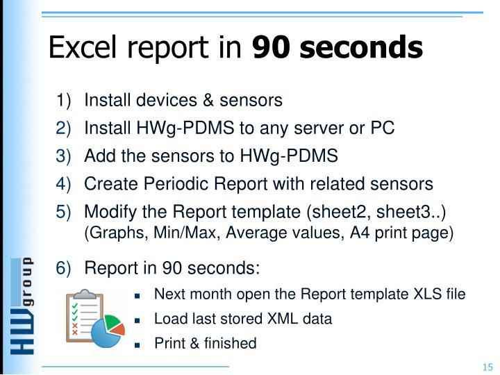 Excel report in
