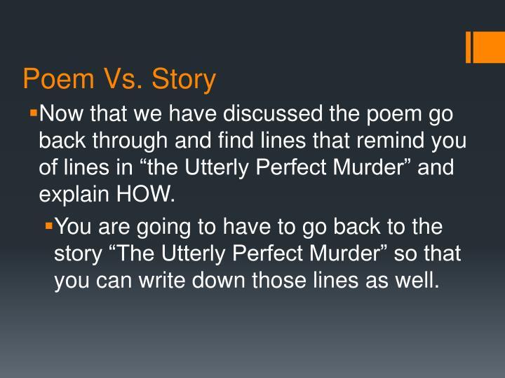 Poem Vs. Story