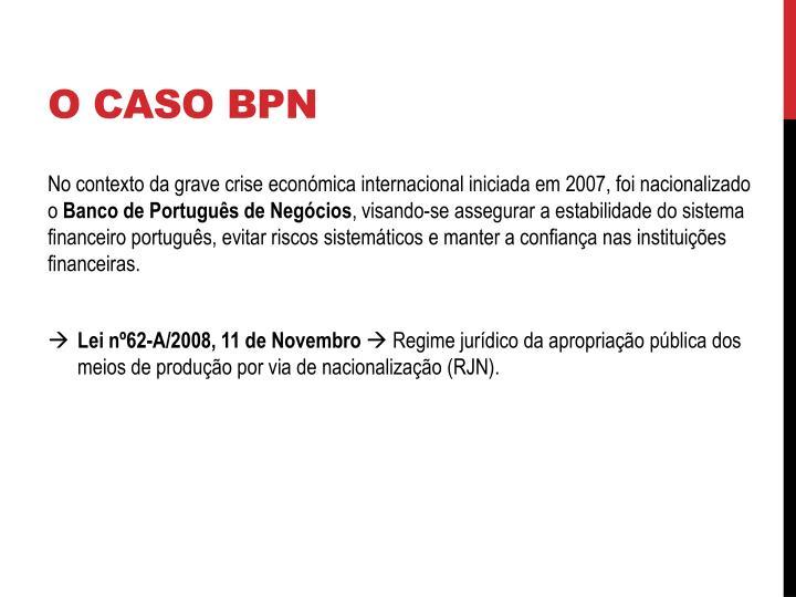 O CASO BPN
