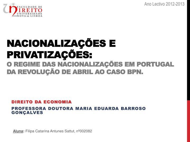 Ano Lectivo 2012-2013