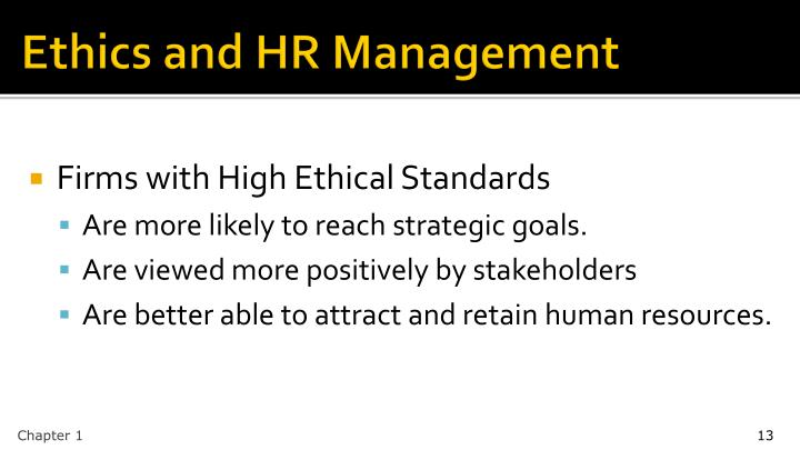 Ethics and HR Management