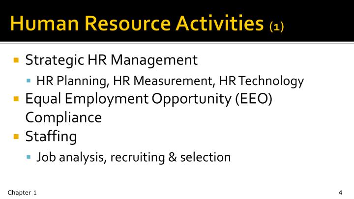 Human Resource Activities