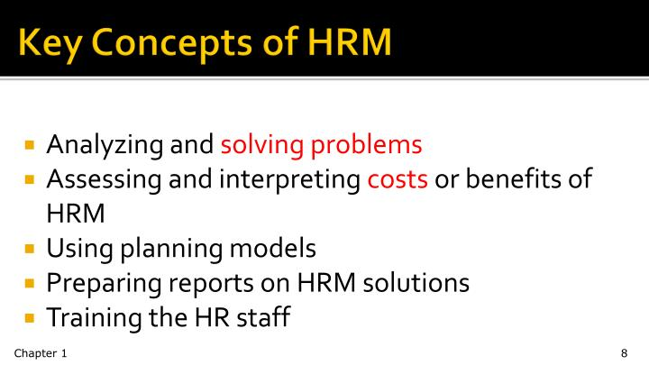 Key Concepts of HRM