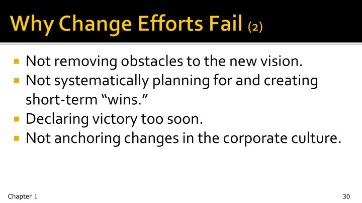 Why Change Efforts Fail