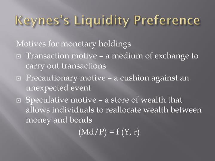Keynes's Liquidity Preference