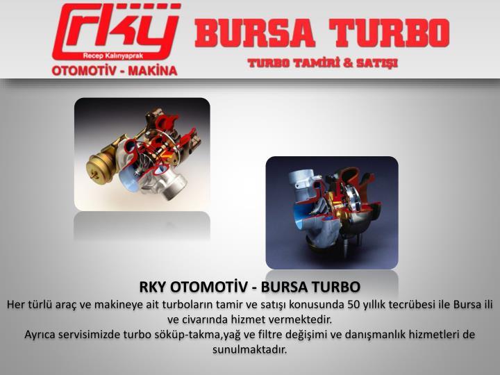 RKY OTOMOTİV - BURSA TURBO