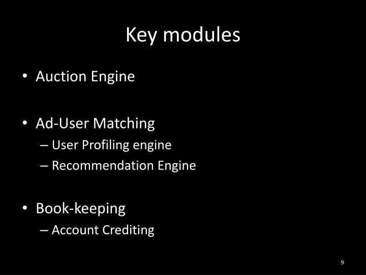 Key modules
