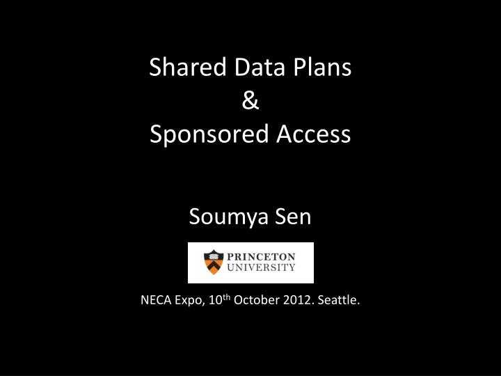 Shared data plans sponsored access