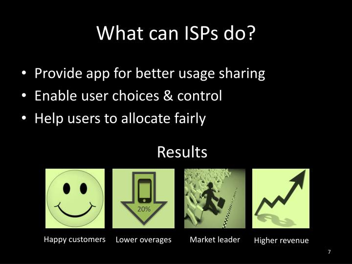 What can ISPs do?