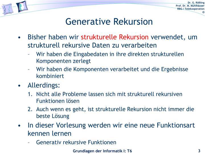 Generative Rekursion