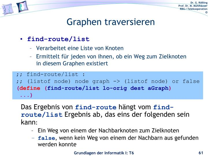 Graphen traversieren