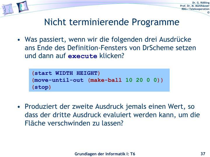 Nicht terminierende Programme