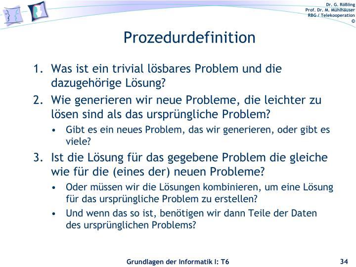 Prozedurdefinition